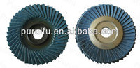 100*16 ALO Zirconia Flap Discs/Zirconium flap disc for polishing and grinding surface with a large angle plastic back 45 page