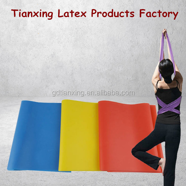 Yoga Pilates Ballet Stretch Latex Resistance Elastic Exercises Bands Set