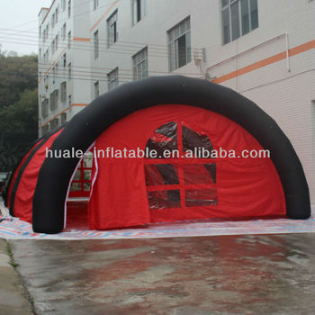 Red inflatable building