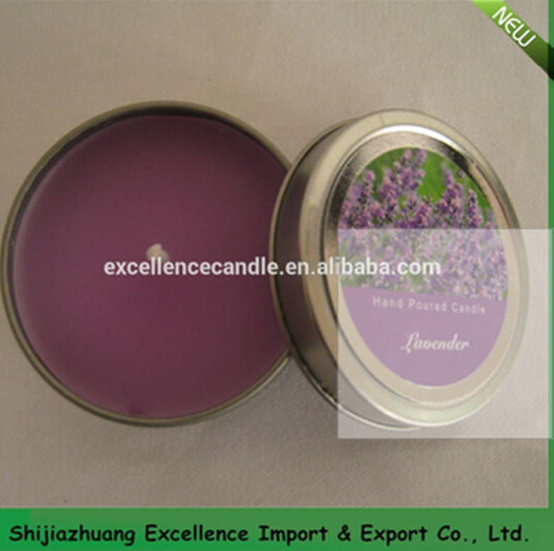 coloful scented tin candle in bulk