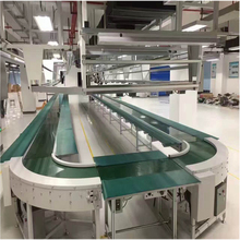 Customized size small belt conveyor system assembly production line
