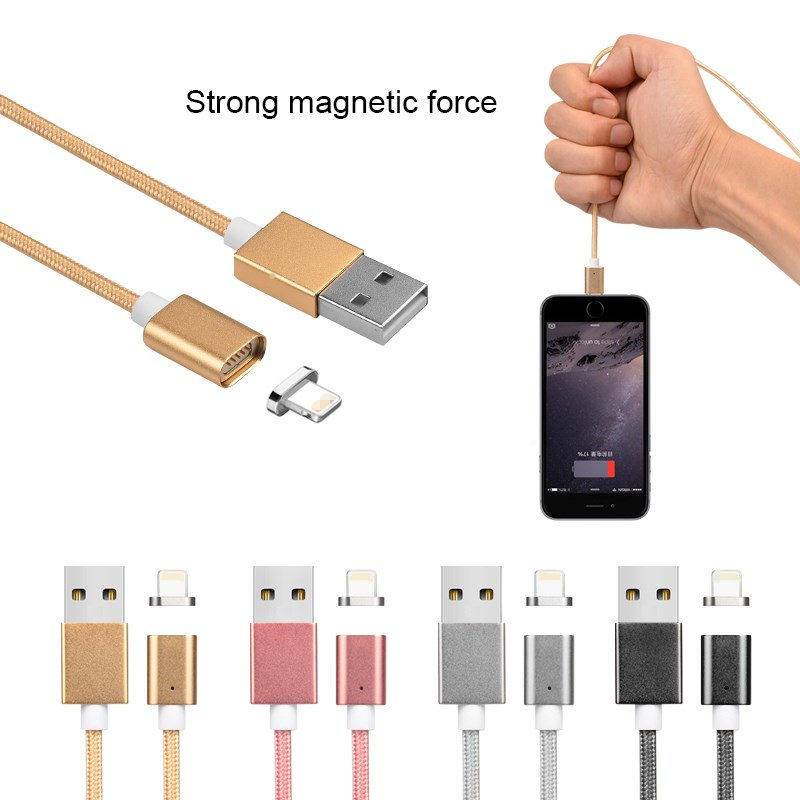 Fast charging current 2.4A 1m 3ft magnetic usb charging usb cable for iphone