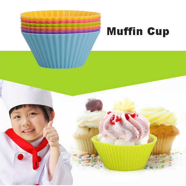 Muffin Cases Silicone Cake Molds For Microwave Cake