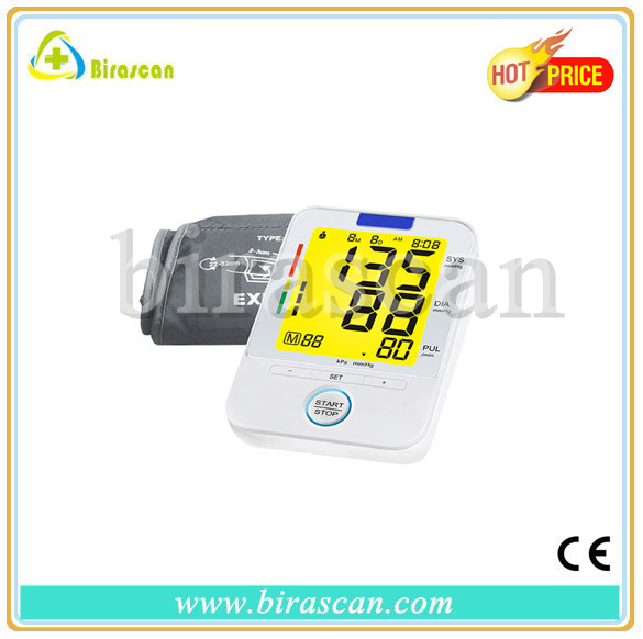 3 colors back light english talking blood pressure monitor with ce approved on sale