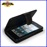 New wallet with card holder flip leather case for huawei ascend y300