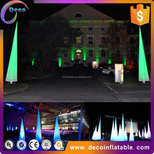 Outdoor advertising lighting balloon with logo printing, custom made LED inflatable aircones/pillars