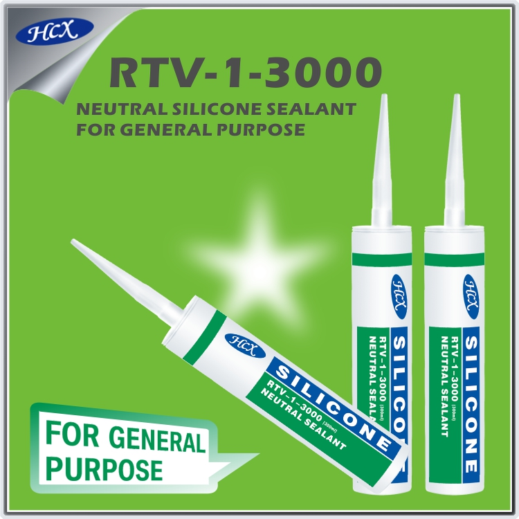 RTV-1-3000 High grade general purpose silicone sealant neutral type silicone adhesive for metal