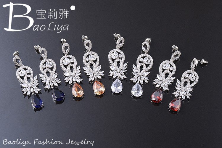 Hot selling jewelry 2015 latest designs floating charms earrings