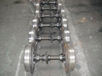 rail wheelset for narrow gauge electric locomotives