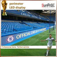 Sunrise offer most practical and economic P16 outdoor football sports stadium perimeter led display screen sign board