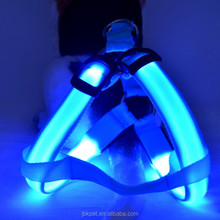 High quality pet accessories led dog harness Amazon top selling LED flashing dog padded harness