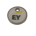 Double sided cheap personalized metal logo tag for bags and garment