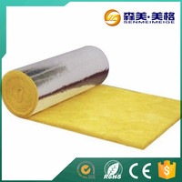 Attic fire rated door glass wool roll with golden aluminum foil