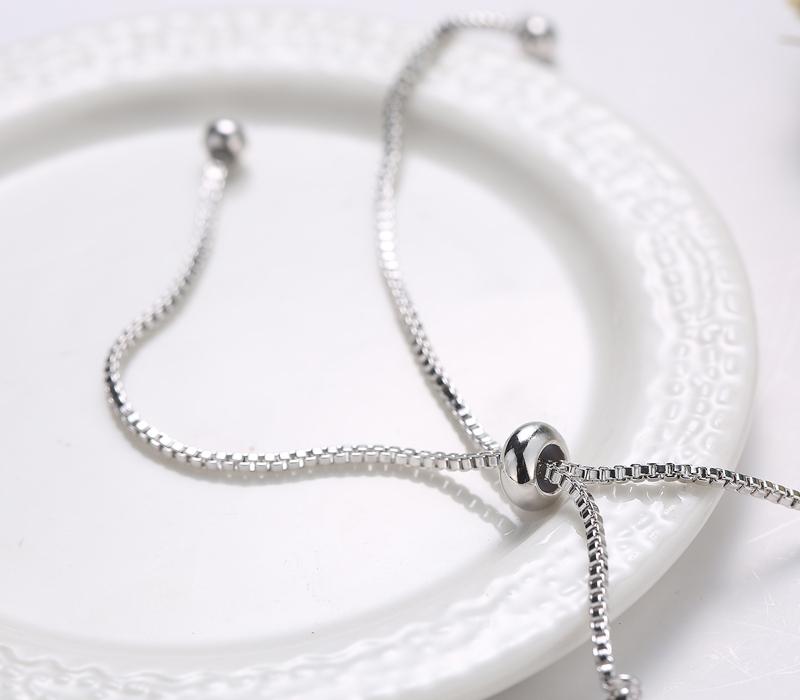 Boho Bracelet Argent Tirer Bracelet CZ Cristal Réglable De Tennis Bracelet Fabricant