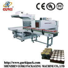 Automatic sleeve sealing and heat shrink machine for can with tray(CE) from Shenzhen