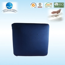 Square shape blue and red 2 usage memory foam seat cushion