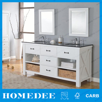 antique style all in one double sink bathroom vanity unit new design