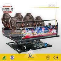 2200W power 6seats 5d cinema hydraulic driving simulator