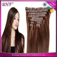 24Inch Double Weft One Piece Clip In Human Hair Extensions 300G For Black Women, Cheap 100% Human Hair Clip In Hair Extension