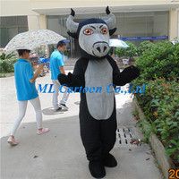 party products black Bull School Mascot Cotumes Custom Mascot Costumes