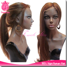magic hair show high ponytail full lace wigs human hair full lace wig with highlights