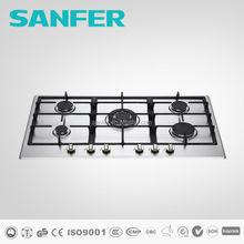 SANFER Popular Model 5 Burner Built-In Stainless Steel Gas Hob