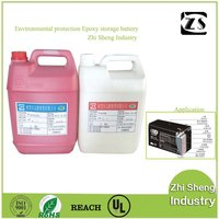 Red and black pole epoxy resin adhesive glue for lead - acid battery (Direct factory)