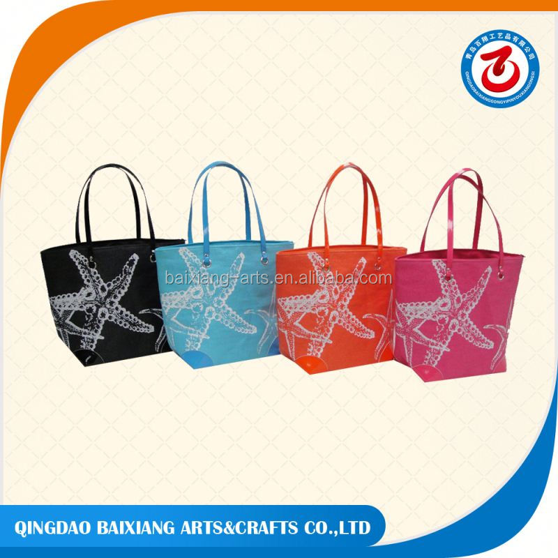 washable women promotional paper straw beach bag