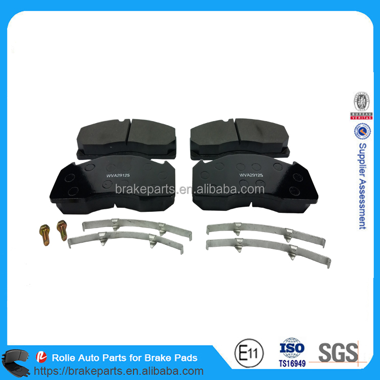 WVA29125 High Quality Heavy Duty Truck Brake Pads Spare Parts for Cars