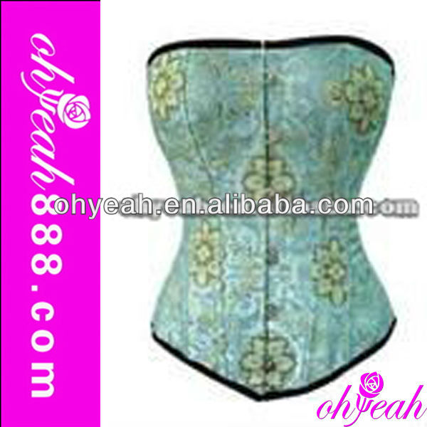 Hot sex blue photo corset women corset