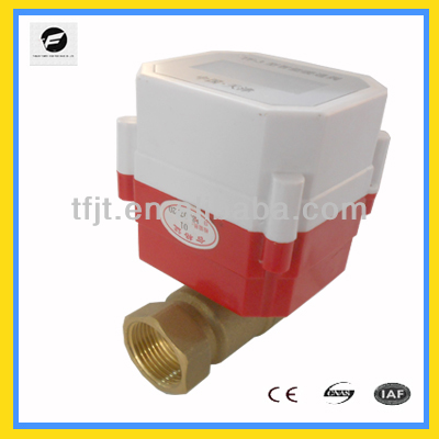 DC3.6V Li battery DN20 electric motor valve with normal opend an closed for HVAC system