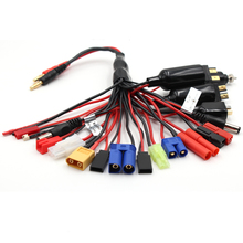 Custom 30cm Multi 20 In1 Banana Plug RC Lipo Battery Charger Adapter Connector Splitter Cable