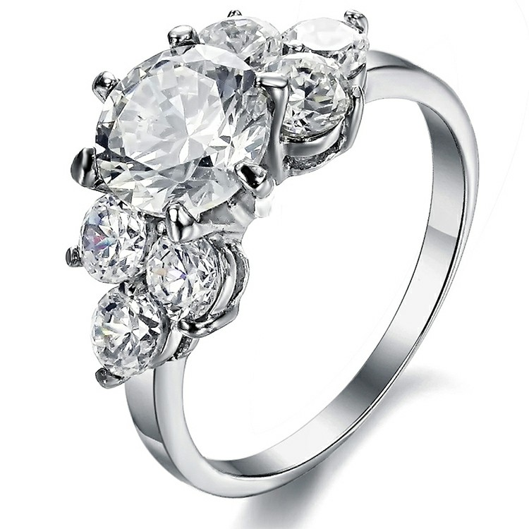 Marlary Special Design Big Crystal Women Latest Wedding Ring Designs Princess Diamond Ring <strong>Jewelry</strong>