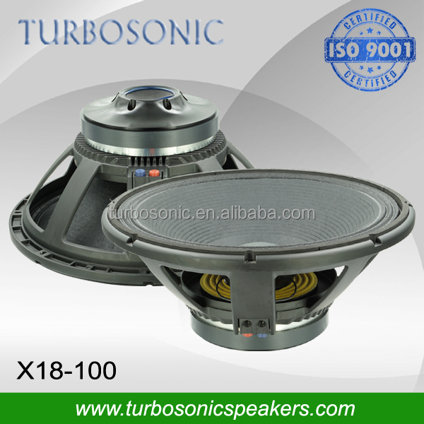 18inch extended transducer with aluminum demodulating rings good for subwoofer sound system