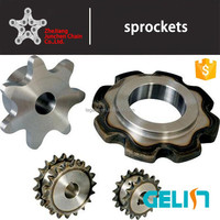 Customizable teeth heat treatment double pitch sprockets