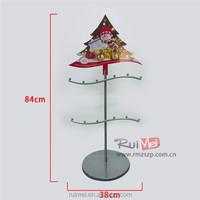 Christmas metal ornament display tree