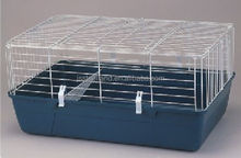 metal wire with plastic tray breeding best quality folded rabbit cage