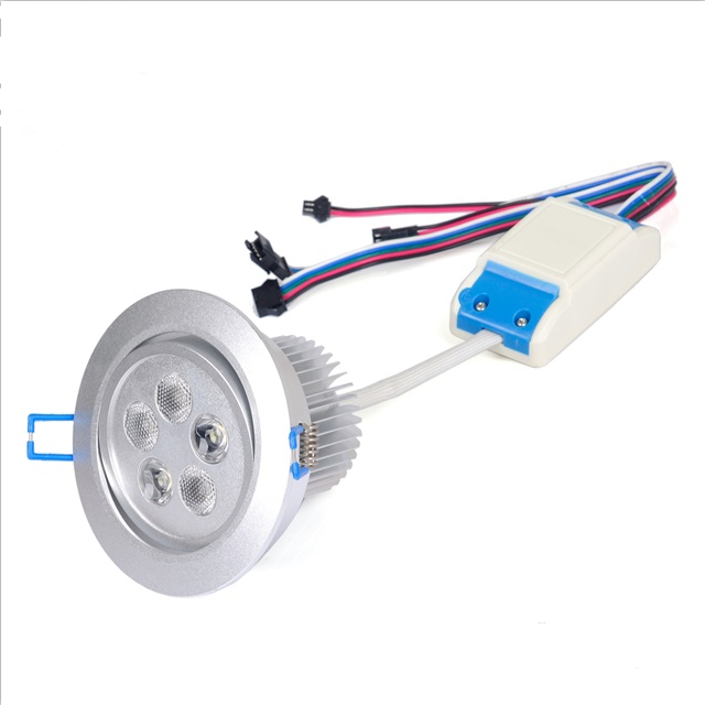 3 Years Warranty 12-24V 5X3W 3In1 Rgb+White Indoor Embedded Led Downlight