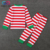 Wholesale Baby Boys Girls Striped T-shirt And Pants Homewear Kids Christmas Pajamas Sets