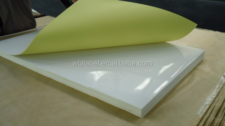Top quality Mirror cast coated sticker paper self adhesive paper