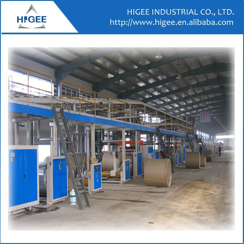 2015 automatic corrugated pizza paper box making machine production line