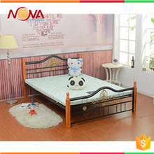 Modern design cheap wholesale used steel single steel metal square tube bed frame legs