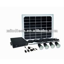 8w whole house solar power system lighting kit with led bulb solar home lighting system