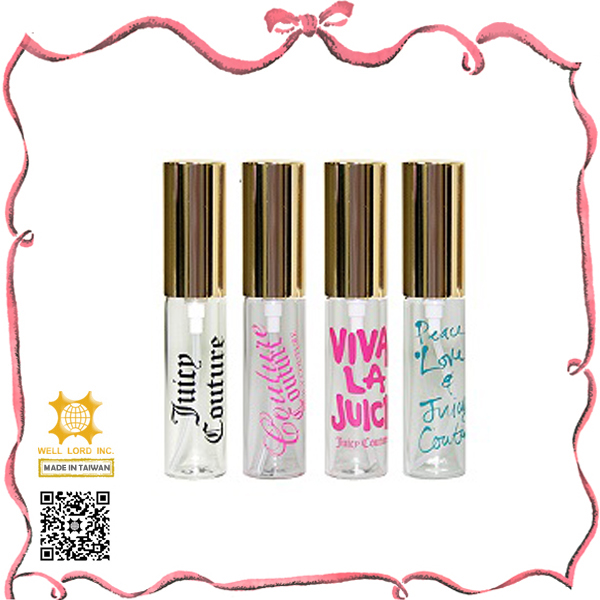 Wholesale colorful design golden cap nice lady perfume vials