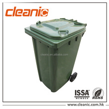 Outdoor color coded garbage bins 240 litre plastic wheelie bin