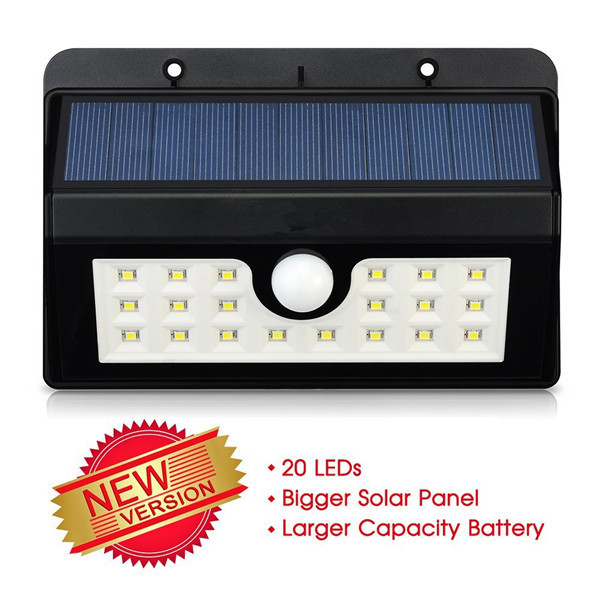 20LED solar security light high brightness solar security light with PIR motion sensor solar security light