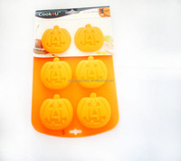 Wholesale Food Grade Pumpkin Silicone ice cube tray for baking cake
