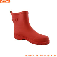 2014 new fashion short rubber rain shoe for sex lady RC4790