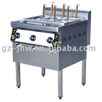 LC_QZML_6(DJS) gas four burner noodle cooker with foot for restaurant kitchen equipemt passed ISO9001