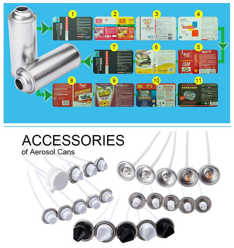 2016 Hot sale caps and valves of aerosol tinplate can